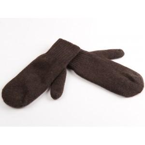 Варежки темно-коричневые из пуха яка