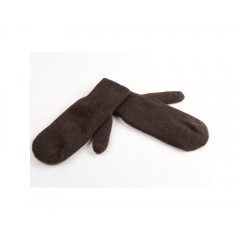 Варежки из пуха яка темно-коричневые
