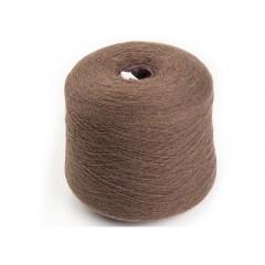 Пряжа в бобинах из 100% пуха яка светло-коричневая